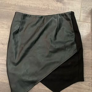 Black skirt with pleather and detailing in front